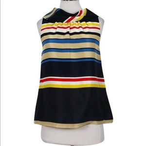 Kate Spade • striped Wide Collar Blouse